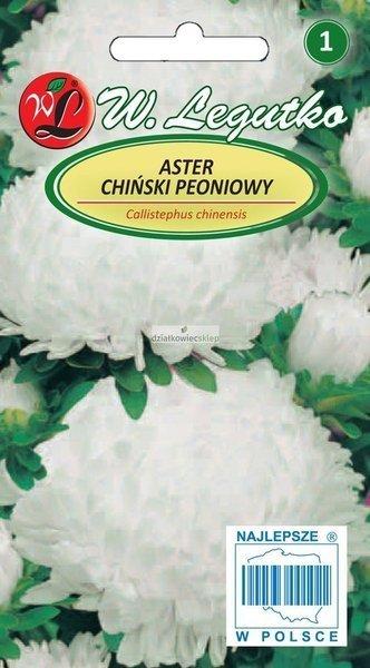Aster chiński peoniowy - biały (1 g)
