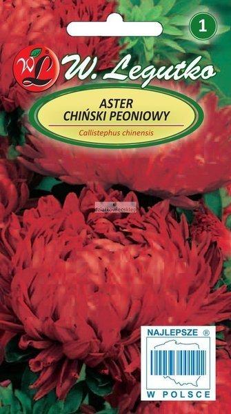 Aster chiński peoniowy czerwony (1 g)
