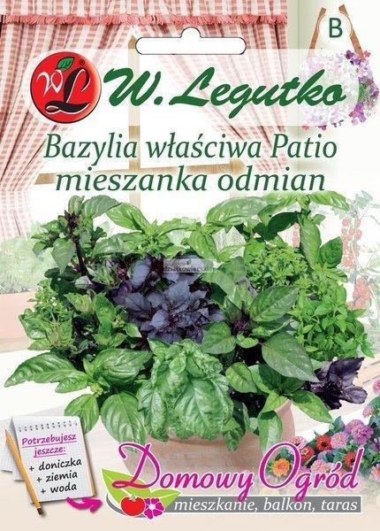 Bazylia właściwa Patio mieszanka odmian (0,5 g) - Domowy Ogród