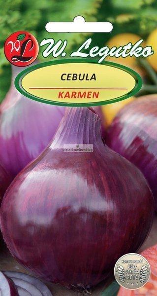 Cebula Karmen, czerwona, śr. wczesna (5 g)