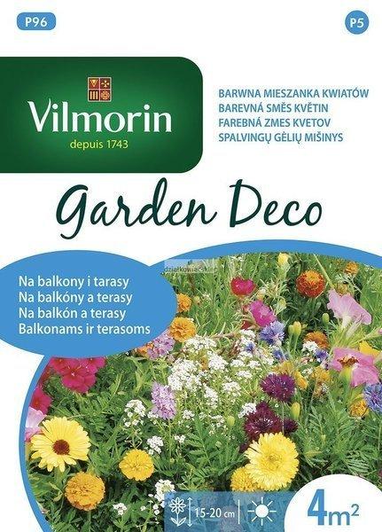 Mieszanka kwiatów na balkony i tarasy (8 g) - Garden Deco